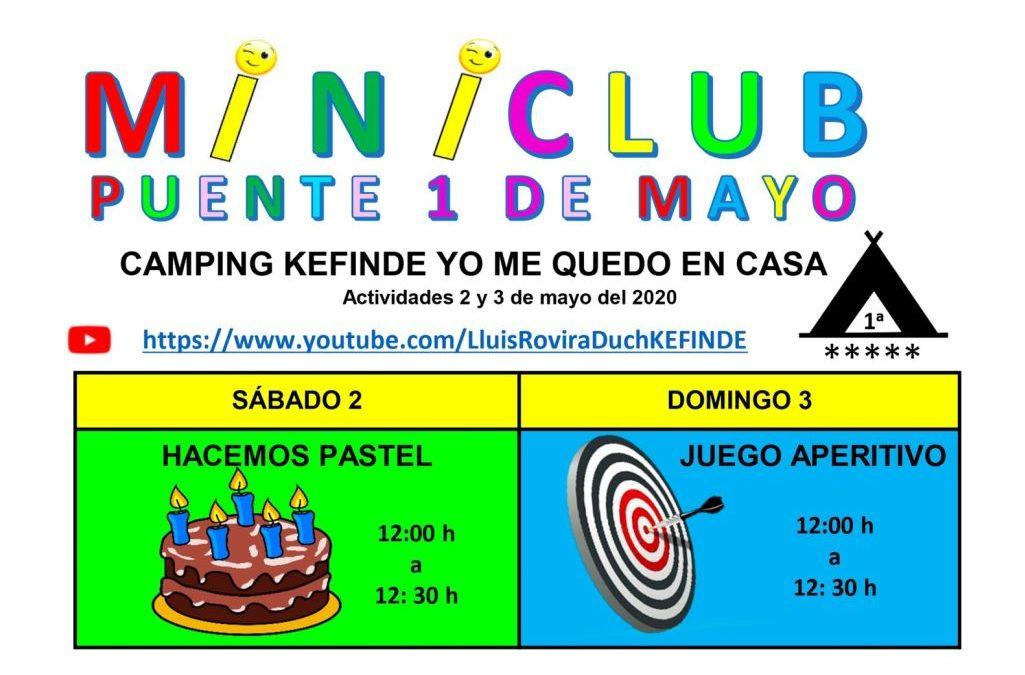 Activitats pont 1 maig Camping Kefinde Ensquedemacasa